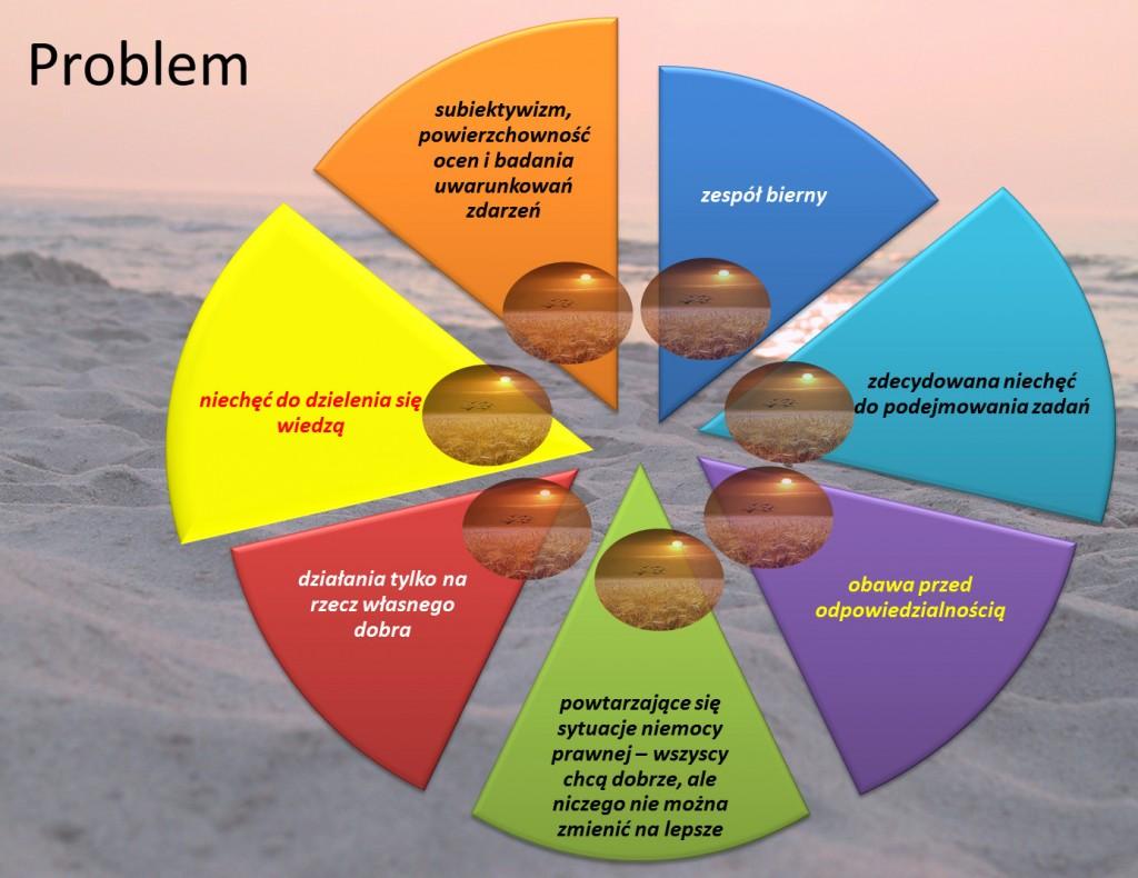 Przykładowe problemy przewidziane w obszarze podpowiedzi rozwiązania.